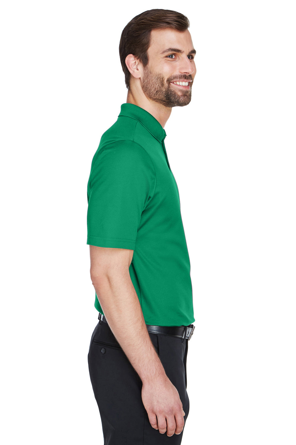 Devon & Jones DG20 CrownLux Performance Moisture Wicking Short Sleeve Polo Shirt Kelly Green Side