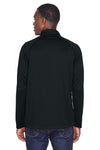 Devon & Jones DG440 Mens Compass Stretch Tech Moisture Wicking 1/4 Zip Sweatshirt Black Back