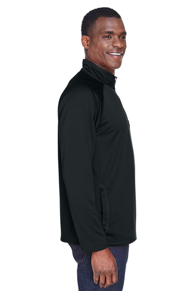 Devon & Jones DG440 Mens Compass Stretch Tech Moisture Wicking 1/4 Zip Sweatshirt Black Side