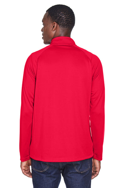 Devon & Jones DG440 Mens Compass Stretch Tech Moisture Wicking 1/4 Zip Sweatshirt Red Back