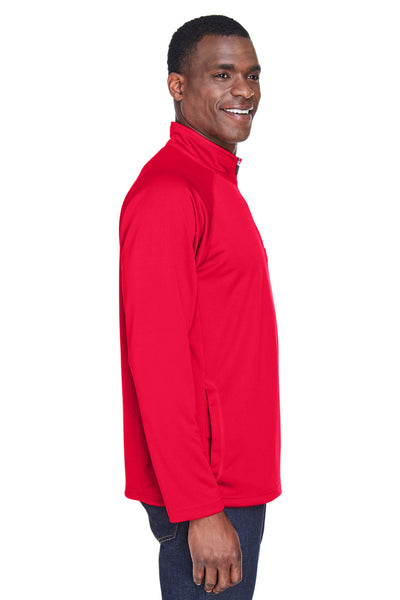 Devon & Jones DG440 Mens Compass Stretch Tech Moisture Wicking 1/4 Zip Sweatshirt Red Side