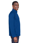 Devon & Jones DG440 Mens Compass Stretch Tech Moisture Wicking 1/4 Zip Sweatshirt Royal Blue Side