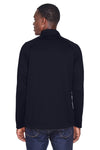 Devon & Jones DG440 Mens Compass Stretch Tech Moisture Wicking 1/4 Zip Sweatshirt Navy Blue Back