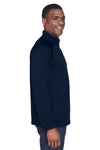 Devon & Jones DG440 Mens Compass Stretch Tech Moisture Wicking 1/4 Zip Sweatshirt Navy Blue Side