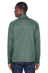 Devon & Jones DG440 Mens Compass Stretch Tech Moisture Wicking 1/4 Zip Sweatshirt Forest Green Back
