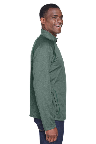 Devon & Jones DG440 Mens Compass Stretch Tech Moisture Wicking 1/4 Zip Sweatshirt Forest Green Side