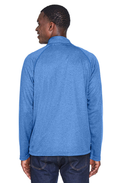 Devon & Jones DG440 Mens Compass Stretch Tech Moisture Wicking 1/4 Zip Sweatshirt French Blue Back