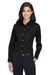 Devon & Jones DG530W Womens Crown Woven Collection Wrinkle Resistant Long Sleeve Button Down Shirt w/ Pocket Black Front