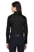 Devon & Jones DG530W Womens Crown Woven Collection Wrinkle Resistant Long Sleeve Button Down Shirt w/ Pocket Black Back