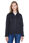 Devon & Jones DG793W Womens Bristol Full Zip Sweater Fleece Jacket Black Front
