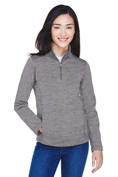 Devon & Jones DG798W Womens Newbury Fleece 1/4 Zip Sweatshirt Dark Grey Front