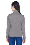 Devon & Jones DG798W Womens Newbury Fleece 1/4 Zip Sweatshirt Dark Grey Back