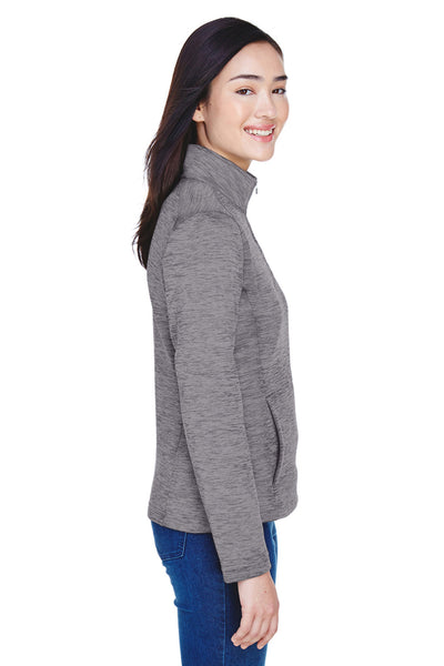 Devon & Jones DG798W Womens Newbury Fleece 1/4 Zip Sweatshirt Dark Grey Side