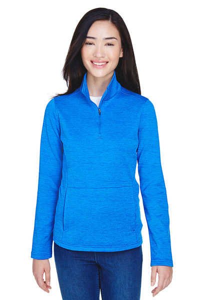 Devon & Jones DG798W Womens Newbury Fleece 1/4 Zip Sweatshirt French Blue Front