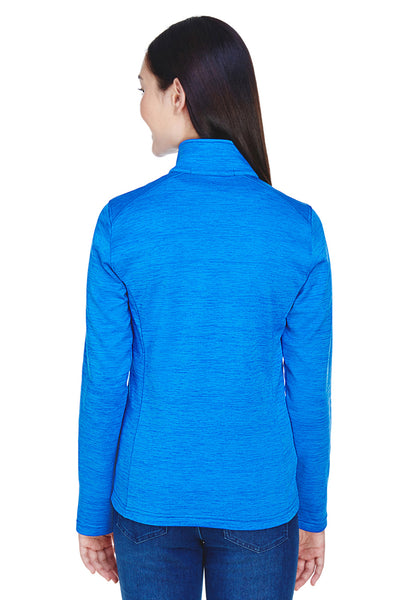Devon & Jones DG798W Womens Newbury Fleece 1/4 Zip Sweatshirt French Blue Back