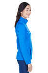 Devon & Jones DG798W Womens Newbury Fleece 1/4 Zip Sweatshirt French Blue Side