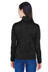 Devon & Jones DG798W Womens Newbury Fleece 1/4 Zip Sweatshirt Black Back