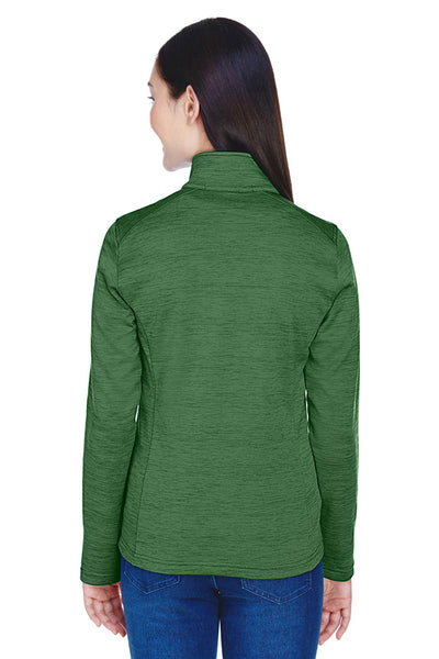 Devon & Jones DG798W Womens Newbury Fleece 1/4 Zip Sweatshirt Forest Green Back