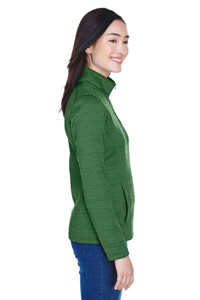 Devon & Jones DG798W Womens Newbury Fleece 1/4 Zip Sweatshirt Forest Green Side
