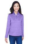 Devon & Jones DG798W Womens Newbury Fleece 1/4 Zip Sweatshirt Purple Front