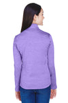Devon & Jones DG798W Womens Newbury Fleece 1/4 Zip Sweatshirt Purple Back
