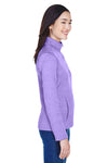 Devon & Jones DG798W Womens Newbury Fleece 1/4 Zip Sweatshirt Purple Side