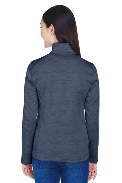 Devon & Jones DG798W Womens Newbury Fleece 1/4 Zip Sweatshirt Navy Blue Back