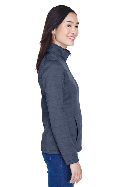 Devon & Jones DG798W Womens Newbury Fleece 1/4 Zip Sweatshirt Navy Blue Side
