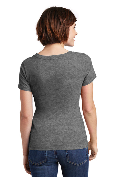 District DM106L Womens Perfect Weight Short Sleeve Scoop Neck T-Shirt Heather Nickel Grey Back