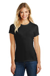 District DM108L Womens Perfect Blend Short Sleeve Crewneck T-Shirt Black Front