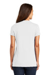 District DM1170L Womens Perfect Weight Short Sleeve V-Neck T-Shirt White Back