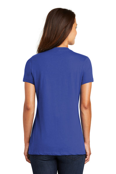 District DM1170L Womens Perfect Weight Short Sleeve V-Neck T-Shirt Royal Blue Back