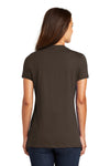 District DM1170L Womens Perfect Weight Short Sleeve V-Neck T-Shirt Espresso Brown Back