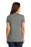 District DM1170L Womens Perfect Weight Short Sleeve V-Neck T-Shirt Heather Nickel Grey Back