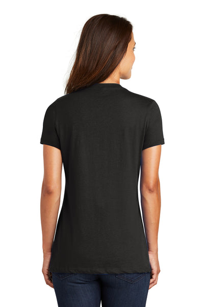 District DM1170L Womens Perfect Weight Short Sleeve V-Neck T-Shirt Black Back