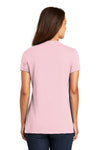 District DM1170L Womens Perfect Weight Short Sleeve V-Neck T-Shirt Light Pink Back