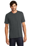 District DM130 Mens Perfect Tri Short Sleeve Crewneck T-Shirt Black Frost Front
