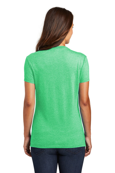 District DM130L Womens Perfect Tri Short Sleeve Crewneck T-Shirt Green Frost Back