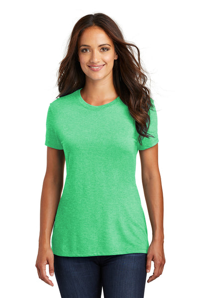 District DM130L Womens Perfect Tri Short Sleeve Crewneck T-Shirt Green Frost Front