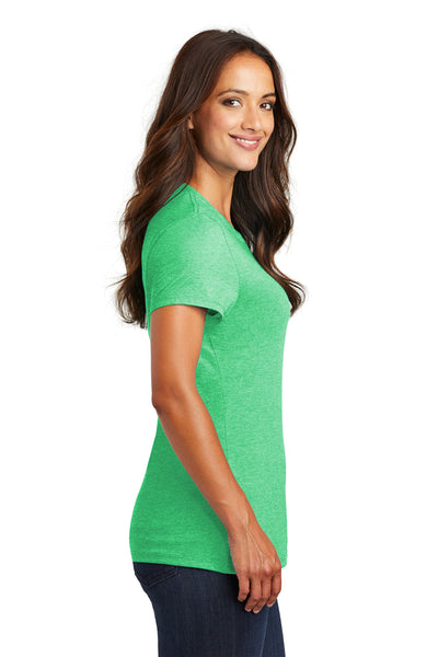 District DM130L Womens Perfect Tri Short Sleeve Crewneck T-Shirt Green Frost Side