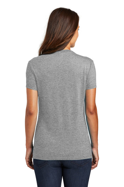 District DM130L Womens Perfect Tri Short Sleeve Crewneck T-Shirt Grey Frost Back