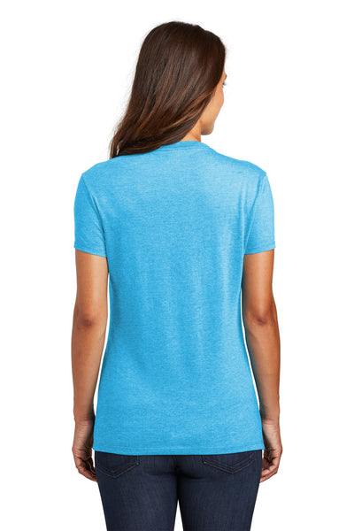 District DM130L Womens Perfect Tri Short Sleeve Crewneck T-Shirt Turquoise Blue Frost Back