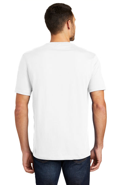 District DT104 Mens Perfect Weight Short Sleeve Crewneck T-Shirt White Back