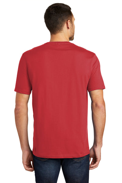 District DT104 Mens Perfect Weight Short Sleeve Crewneck T-Shirt Red Back
