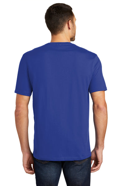 District DT104 Mens Perfect Weight Short Sleeve Crewneck T-Shirt Royal Blue Back