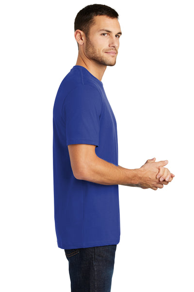 District DT104 Mens Perfect Weight Short Sleeve Crewneck T-Shirt Royal Blue Side