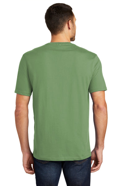 District DT104 Mens Perfect Weight Short Sleeve Crewneck T-Shirt Fatigue Green Back