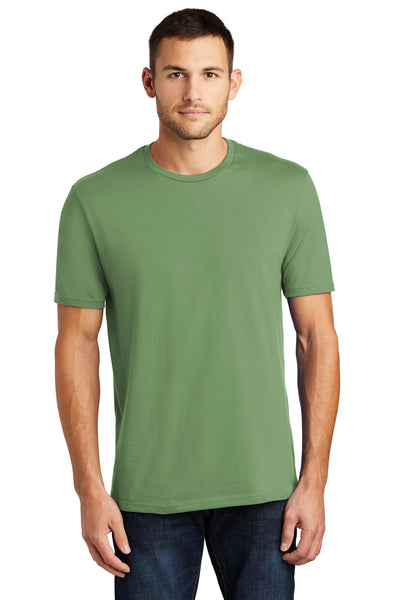 District DT104 Mens Perfect Weight Short Sleeve Crewneck T-Shirt Fatigue Green Front