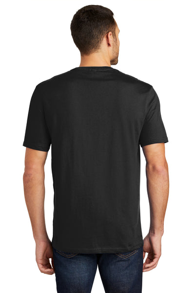 District DT104 Mens Perfect Weight Short Sleeve Crewneck T-Shirt Black Back