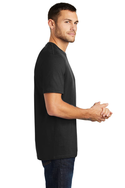 District DT104 Mens Perfect Weight Short Sleeve Crewneck T-Shirt Black Side